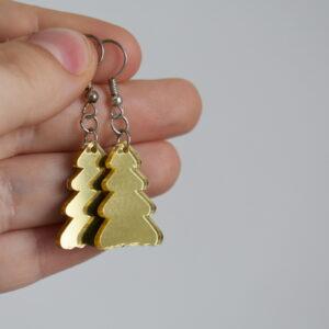Náušnice stromeček - zrcadlové - plexi - Belusi